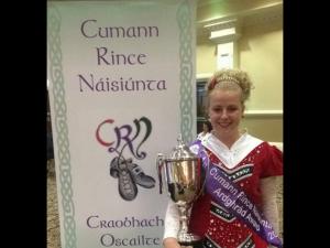 Aimee Herbert with irish Dance Trophy