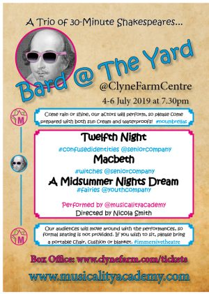 Musicality Bard at the Yard Poster