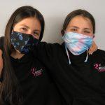 Pupils in masks